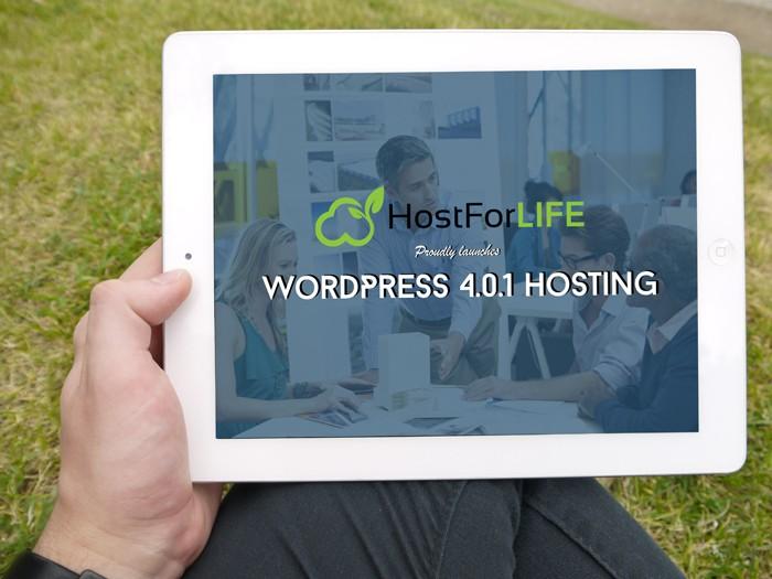 HostForLIFEASP.NET Proudly Launches WordPress 4.0.1 Hosting