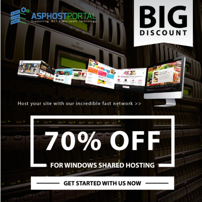BIG DISCOUNT 70% for Windows Shared Hosting on ASPHostPortal.com