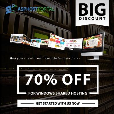 BIG DISCOUNT 70% for Windows Shared Hosting on ASPHostPortal.com